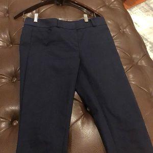 Loft Size 4 Navy Blue Marissa Skinny Pants